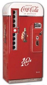 Old time Coca Cola vending machine