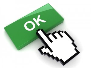 OK Button with finger