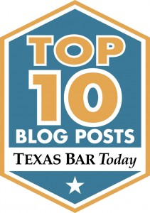 Top 10 Blog Posts Texas Bar Today