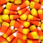 A pile of candy corn