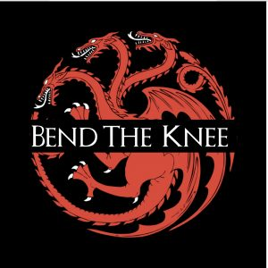 Bend the Knee dragon image from Game of Thrones
