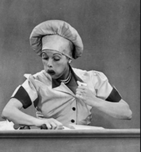Lucille Ball on assembly line