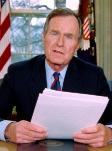George Bush as president